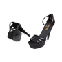 Authentic Second Hand Chanel Black Sequinned Sandals (PSS-049-00073) - Thumbnail 1