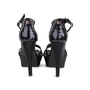 Authentic Second Hand Chanel Black Sequinned Sandals (PSS-049-00073) - Thumbnail 5