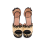 Authentic Second Hand Azzedine Alaïa Studded Raffia Wedge Sandals (PSS-049-00074) - Thumbnail 0