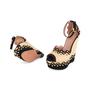 Authentic Second Hand Azzedine Alaïa Studded Raffia Wedge Sandals (PSS-049-00074) - Thumbnail 1