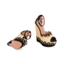 Authentic Second Hand Azzedine Alaïa Studded Raffia Wedge Sandals (PSS-049-00074) - Thumbnail 2