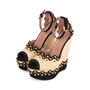 Authentic Second Hand Azzedine Alaïa Studded Raffia Wedge Sandals (PSS-049-00074) - Thumbnail 3