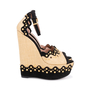 Authentic Second Hand Azzedine Alaïa Studded Raffia Wedge Sandals (PSS-049-00074) - Thumbnail 4