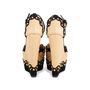Authentic Second Hand Azzedine Alaïa Studded Raffia Wedge Sandals (PSS-049-00074) - Thumbnail 5