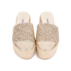 Glitter Platform Espadrille Sandals