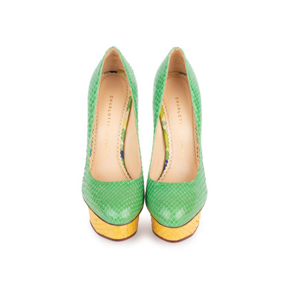 Authentic Second Hand Charlotte Olympia Dolly Python Pumps (PSS-049-00079)