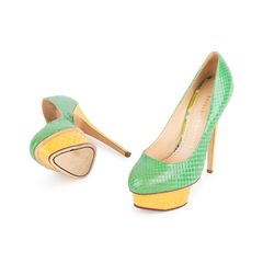 Charlotte olympia dolly python pumps green 2?1548843033