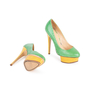 Authentic Second Hand Charlotte Olympia Dolly Python Pumps (PSS-049-00079) - Thumbnail 5