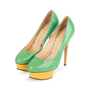 Authentic Second Hand Charlotte Olympia Dolly Python Pumps (PSS-049-00079) - Thumbnail 2