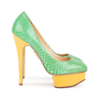 Authentic Second Hand Charlotte Olympia Dolly Python Pumps (PSS-049-00079) - Thumbnail 1