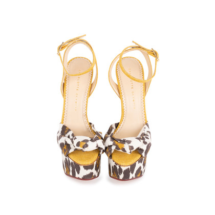 Authentic Pre Owned Charlotte Olympia Leopard Print Wedge Sandals (PSS-049-00080)