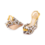 Authentic Pre Owned Charlotte Olympia Leopard Print Wedge Sandals (PSS-049-00080) - Thumbnail 1