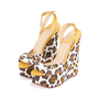 Authentic Pre Owned Charlotte Olympia Leopard Print Wedge Sandals (PSS-049-00080) - Thumbnail 3