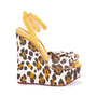 Authentic Pre Owned Charlotte Olympia Leopard Print Wedge Sandals (PSS-049-00080) - Thumbnail 4