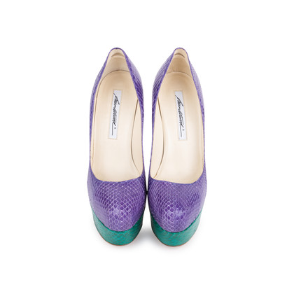Authentic Second Hand Brian Atwood Hamper Elaphe Platform Pumps (PSS-049-00081)