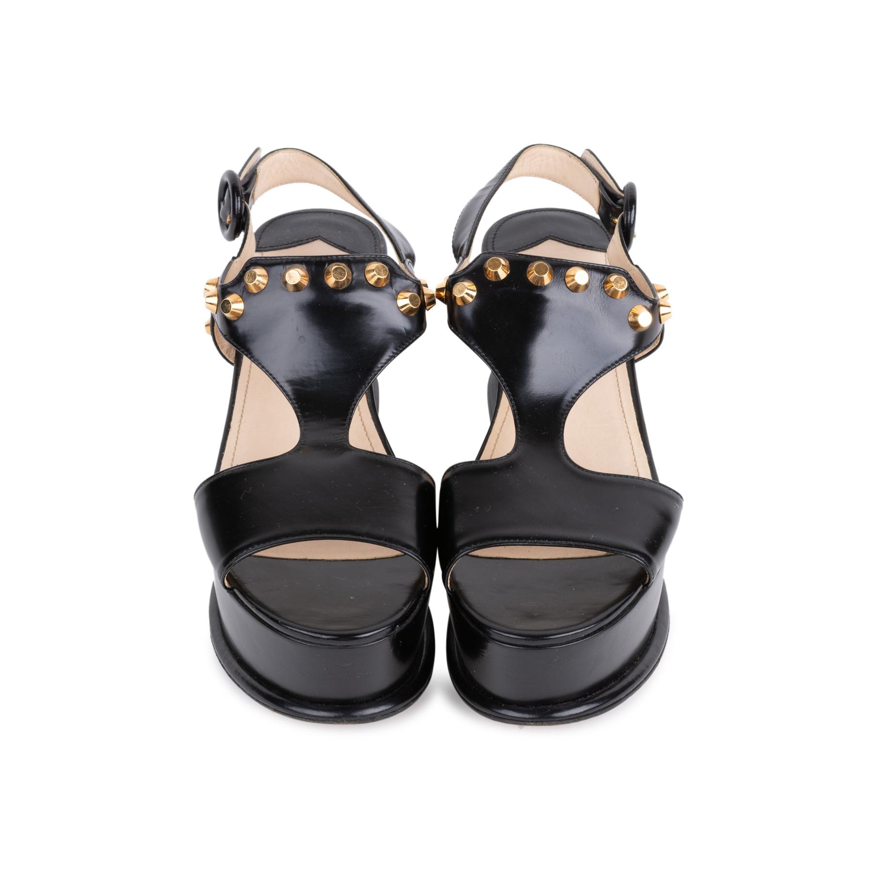 d6d5e791a706 Authentic Second Hand Prada Black Platform Sandals (PSS-049-00084 ...