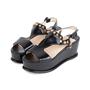 Authentic Second Hand Prada Black Platform Sandals (PSS-049-00084) - Thumbnail 3