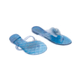 Authentic Second Hand Chanel Blue Camellia Thong Sandals (PSS-049-00085) - Thumbnail 2