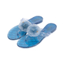 Authentic Second Hand Chanel Blue Camellia Thong Sandals (PSS-049-00085) - Thumbnail 3