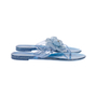 Authentic Pre Owned Chanel Blue Camellia Thong Sandals (PSS-049-00085) - Thumbnail 4