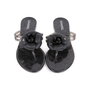 Authentic Second Hand Chanel Black Camellia Thong Sandals (PSS-049-00086) - Thumbnail 0