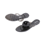 Authentic Second Hand Chanel Black Camellia Thong Sandals (PSS-049-00086) - Thumbnail 1