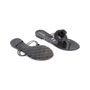 Authentic Second Hand Chanel Black Camellia Thong Sandals (PSS-049-00086) - Thumbnail 2