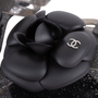 Authentic Second Hand Chanel Black Camellia Thong Sandals (PSS-049-00086) - Thumbnail 6