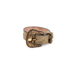 Cracked-Leather Bracelet