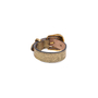 Authentic Pre Owned Alexander McQueen Cracked-Leather Bracelet (PSS-599-00025) - Thumbnail 1