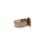 Authentic Pre Owned Alexander McQueen Cracked-Leather Bracelet (PSS-599-00025) - Thumbnail 2