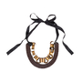 Authentic Second Hand Marni Metal Rings and Leather Ribbon Necklace (PSS-599-00028) - Thumbnail 1
