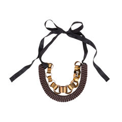 Marni metal rings and leather ribbon necklace 2?1548918948