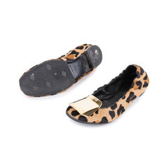 Burberry gold plaque leopard flats 2?1548926389