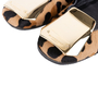 Authentic Second Hand Burberry Gold Plaque Leopard Flats (PSS-586-00002) - Thumbnail 6