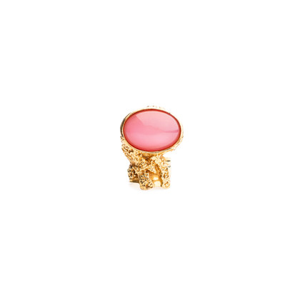 Authentic Second Hand Yves Saint Laurent Pink Arty Oval Ring (PSS-029-00037)