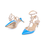 Authentic Second Hand Valentino Blue Rockstud Cage Pumps (PSS-200-01618) - Thumbnail 1