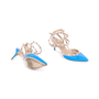 Authentic Second Hand Valentino Blue Rockstud Cage Pumps (PSS-200-01618) - Thumbnail 2