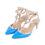 Authentic Second Hand Valentino Blue Rockstud Cage Pumps (PSS-200-01618) - Thumbnail 3