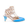 Authentic Second Hand Valentino Blue Rockstud Cage Pumps (PSS-200-01618) - Thumbnail 4