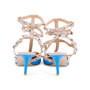 Authentic Second Hand Valentino Blue Rockstud Cage Pumps (PSS-200-01618) - Thumbnail 5