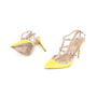 Authentic Pre Owned Valentino Yellow Rockstud Slingback Pumps (PSS-200-01619) - Thumbnail 1