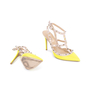 Authentic Pre Owned Valentino Yellow Rockstud Slingback Pumps (PSS-200-01619) - Thumbnail 2