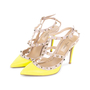 Authentic Second Hand Valentino Yellow Rockstud Slingback Pumps (PSS-200-01619) - Thumbnail 3