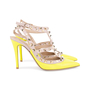 Authentic Second Hand Valentino Yellow Rockstud Slingback Pumps (PSS-200-01619) - Thumbnail 4