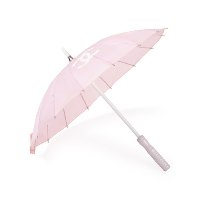 Authentic Second Hand Chanel Pink Logo Parasol (PSS-200-01622)