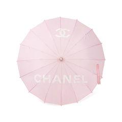 Chanel pink logo parasol 2?1548927853