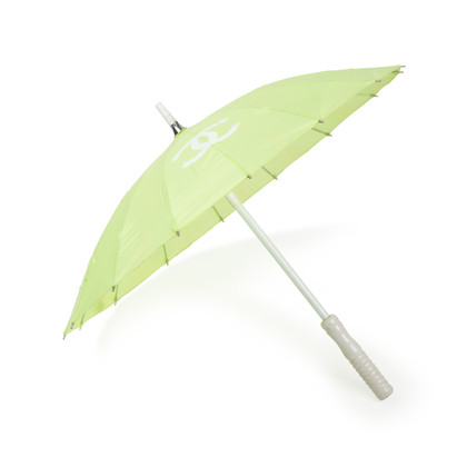 Authentic Second Hand Chanel Green Logo Parasol (PSS-200-01623)