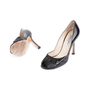 Authentic Pre Owned Jimmy Choo Distressed Patent Peep Toe Pumps (PSS-506-00030) - Thumbnail 1