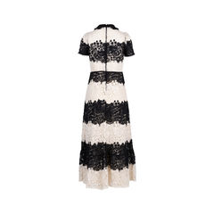 Red valentino floral lace crochet dress 2?1549513192